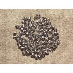 30pc - Cache Perles à écraser Métal Argenté Rhodium 4mm 4558550034748