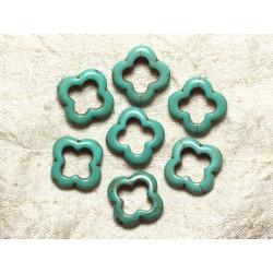 Sac 10pc - Perles de Turquoise - Fleurs 20mm Bleu Turquoise 4558550034908
