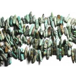 Sac 10pc - Perles de Pierre - Rocailles de Turquoise d'Afrique 12-22mm 4558550035318