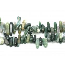 Sac 10pc - Perles de Pierre - Rocailles d'Agate Mousse 12-25 mm 4558550035462