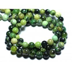 10pc - Perles de Pierre - Chrysoprase Boules 3-4mm - 4558550035820