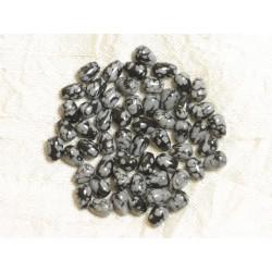 Sac 10pc - Perles de Pierre - Obsidienne Flocon Gouttes 7x5mm 4558550035998