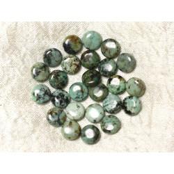 5pc - Perles de Pierre - Turquoise d'Afrique Palets 10mm 4558550036957