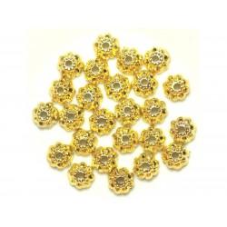 Sac de 20pc - Perles Coupelles en Métal Doré - 9 x 3 mm 4558550037909