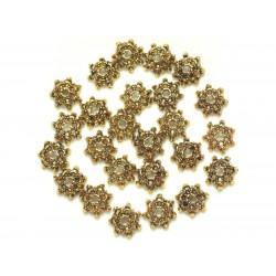 Sac de 20pc - Perles Coupelles en Métal Doré - 9 x 2 mm 4558550037923