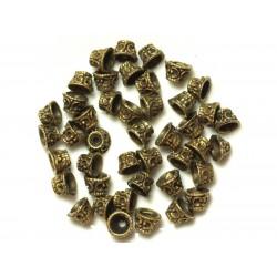 Perles Coupelles en Métal Bronze- 8 x 5 x 5 mm - Sac de 10pc 4558550037947