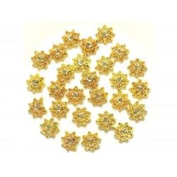 Sac de 20pc - Perles Coupelles en Métal Doré - 9 x 3 mm 4558550037961
