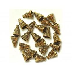 Perles Cônes en Métal Doré - 12 x 8.5 mm - Sac de 10pc 4558550037978