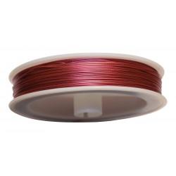 Fil Câblé Rose Clair 0.45 mm -Bobine de 100 m 4558550038678