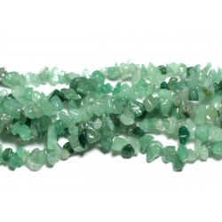 120pc environ - Perles de Pierre - Aventurine Verte Rocailles Chips 5-12mm - 4558550038753