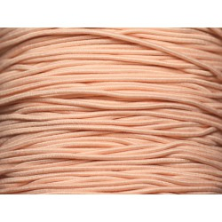 Bobine 100 mètres env - Fil Cordon Tissu Elastique 1mm Rose saumon clair pastel