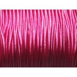 Bobine 45 mètres env - Cordon Lanière Tissu Satin Soutache 2.5mm Rose Fuchsia