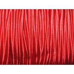 Bobine 45 mètres env - Cordon Lanière Tissu Satin Soutache 2.5mm Rouge