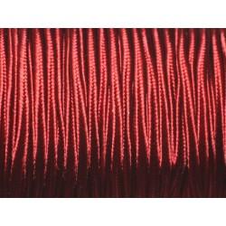 Bobine 45 mètres env - Cordon Lanière Tissu Satin Soutache 2.5mm Rouge Bordeaux