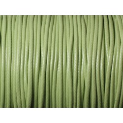 Bobine 90 mètres - Fil Cordon Coton Ciré 1.5mm Vert clair Anis