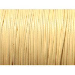 Bobine 180 mètres - Fil Cordon Coton Ciré 0.8mm Jaune clair pastel ivoire crème