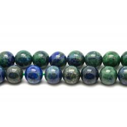 Fil 39cm 32pc env - Perles de Pierre - Chrysocolle Boules 12mm