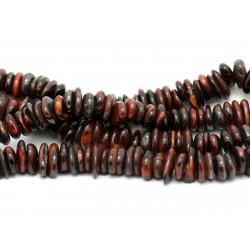 Fil 39cm 110pc env - Perles de Pierre - Oeil de Taureau Chips Palets Rondelles 8-13mm