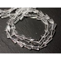 Fil 33cm 36pc env - Perles de Pierre - Cristal Quartz Triangles 6-10mm - 8741140013117