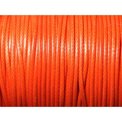 Bobine 90 mètres - Fil Cordon Coton Ciré enduit 2mm Orange