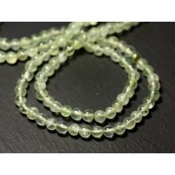 Fil 33cm 71pc env - Perles de Pierre - Phrénite Boules 4mm - 8741140012479