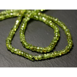 Fil 35cm 145pc env - Perles de Pierre - Péridot Rondelles Heishi 3-5mm - 8741140012998