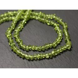 Fil 33cm 123pc env - Perles de Pierre - Péridot Rondelles Bouliers 4-5mm - 8741140013094