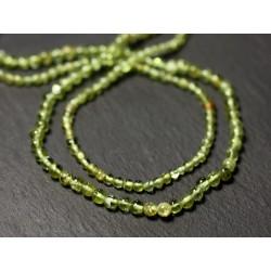 Fil 33cm 117pc env - Perles de Pierre - Péridot Boules 2-3mm - 8741140012448