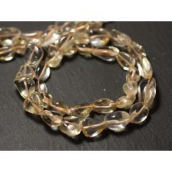 Fil 34cm 35pc env - Perles de Pierre - Citrine Olives 6-11mm - 8741140012561
