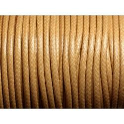 1 Bobine 45 mètres - Fil Cordon Coton Ciré 3mm Beige