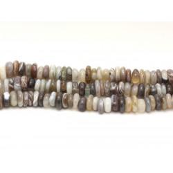 Fil 39cm 100pc env - Perles de Pierre - Agate naturelle Botswana Chips Palets Rondelles 8-12mm