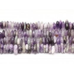 Fil 39cm 100pc env - Perles de Pierre - Améthyste chevron Chips Palets Rondelles 10-15mm