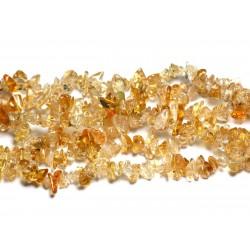 Fil 89cm 420pc env - Perles de Pierre - Citrine Rocailles Chips 3-8mm