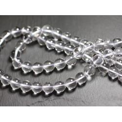 Fil 39cm 225pc env - Perles de Pierre - Cristal Quartz Boules 2mm