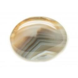 N12 - Cabochon de Pierre - Agate grise naturelle Ovale 35x27mm - 8741140005686