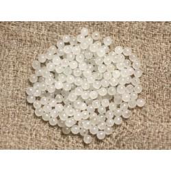 Fil 39cm 190pc env - Perles de Pierre - Quartz Rose Boules 2mm