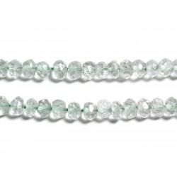 10pc - Perles de Pierre - Améthyste Verte Prasiolite Rondelles Facettées 3x2mm - 4558550090362
