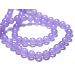 Fil 39cm 48pc env - Perles de Pierre - Jade Boules 8mm Violet Mauve Lavande