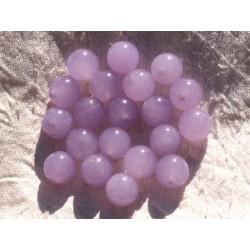 Fil 39cm 32pc env - Perles de Pierre - Jade Boules 12mm Violet Mauve