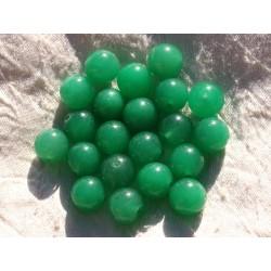 Fil 39cm 32pc env - Perles de Pierre - Jade Boules 12mm Vert Emeraude