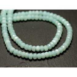 Fil 39cm 140pc env - Perles de Pierre - Amazonite Rondelles facettées 4mm
