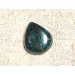 N1 - Cabochon Pierre semi précieuse - Azurite Goutte 20x17mm - 4558550079244