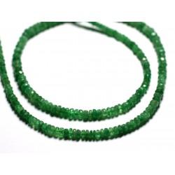 Fil 210pc env - Perles de Pierre - Grenat Tsavorite Rondelles Facettées 3x2mm - 4558550090843