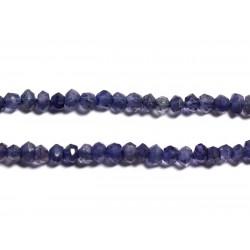 10pc - Perles de Pierre - Iolite Cordiérite Rondelles Facettées 3x2mm - 4558550090409