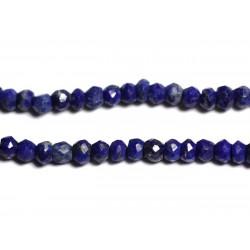 10pc - Perles de Pierre - Lapis Lazuli Rondelles Facettées 3x2mm - 4558550090355