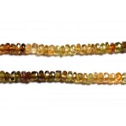 Fil 255pc env - Perles de Pierre - Petro Tourmaline Rondelles Facettées 3x2mm - 4558550090911