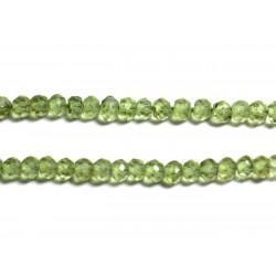Fil 135pc env - Perles de Pierre - Péridot Rondelles Facettées 3x2mm - 4558550090904