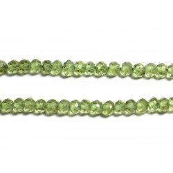 10pc - Perles de Pierre - Péridot Rondelles Facettées 3x2mm - 4558550090270