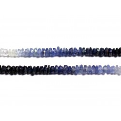 Fil 300pc env - Perles de Pierre - Saphir Rondelles Facettées 3x2mm - 4558550090973
