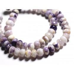 1pc - Perle de Pierre - Tiffany Stone Opale Fluorite Bertrandite Rondelle 6-8mm - 4558550090577